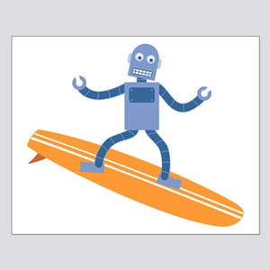 Surfing Robot Small Poster