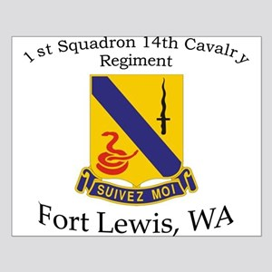 1st Squadron 14th Cavalry Small Poster