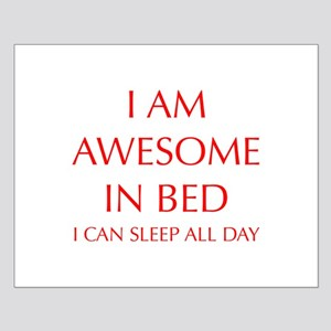 i-am-awesome-in-bed-OPT-RED Posters