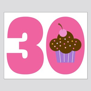 30th Birthday Cupcake Small Poster