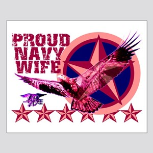Proud Navy Wife Small Poster