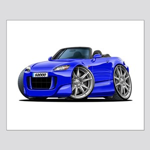 s2000 Blue Car Small Poster