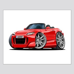s2000 Red Car Small Poster