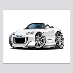 s2000 White Car Small Poster