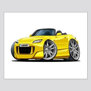 s2000 Yellow Car Small Poster