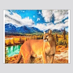 River Cougar Small Poster