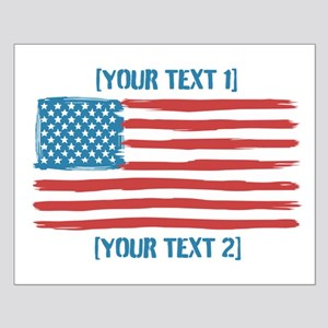 [Your Text] 'Handmade' US Flag Small Poster