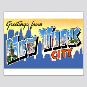 New York City Greetings Small Poster