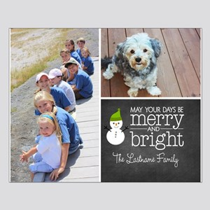 Chalkboard Holiday Photo Card Posters