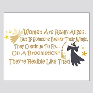 Women Are Like Angels Small Poster