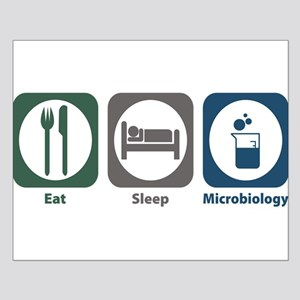 Eat Sleep Microbiology Small Poster