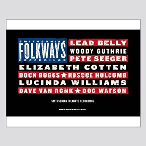 Folkways Artists Small Poster