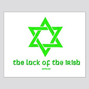 Luck of the Irish Jew Small Poster