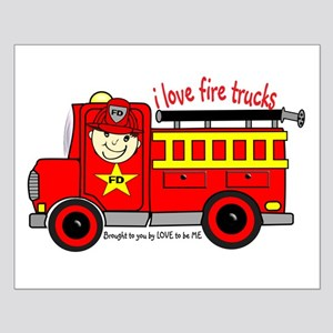 FIRE TRUCK - LOVE TO BE ME Small Poster
