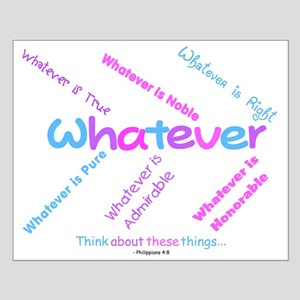 Whatever - Light Blue, Purple Small Poster