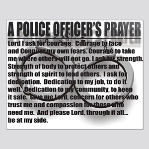 A POLICE OFFICER'S PRAYER Small Poster