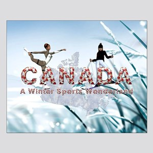 Canada Winter Sports Small Poster