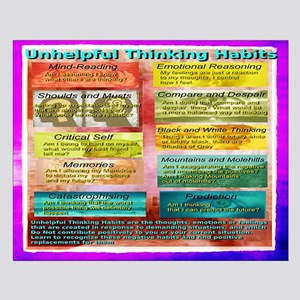 Unhelpful thinking Habits skill Posters