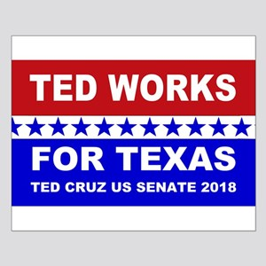 Ted works for Texas Small Poster