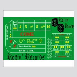 Rollin Records Craps Table Posters