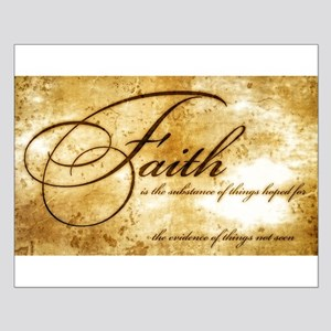 faith is gold vintage Small Poster