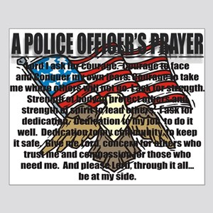 POLICE OFFICER'S PRAYER Small Poster