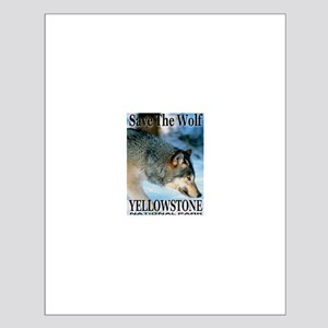 Save The Wolf YNP Large Print Small Poster
