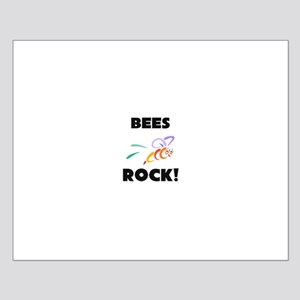 Bees Rock! Small Poster
