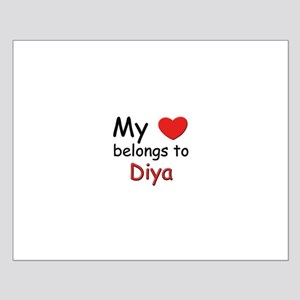 My heart belongs to diya Small Poster
