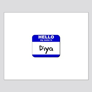 hello my name is diya  Small Poster