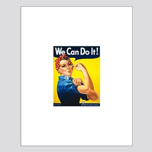 Vintage Rosie the Riveter Small Poster
