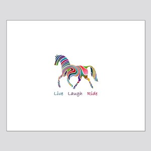 Rainbow horse gift Small Poster