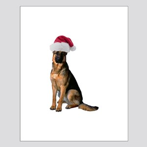 Santa German Shepherd Small Poster