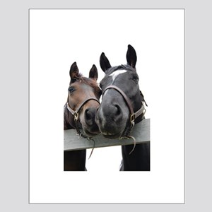 Kissing Horses Small Poster