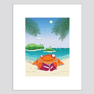 Funny Crab Small Poster