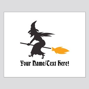 Custom Personalized Halloween Witch Broom Posters