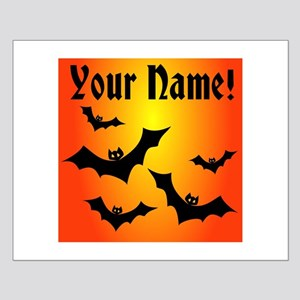 Personalized Halloween Bats Small Poster