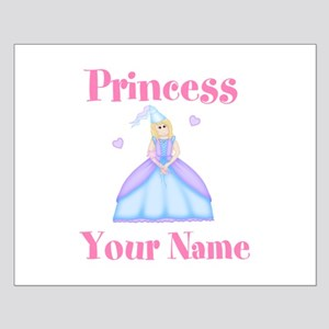 Blond Princess Personalized Small Poster