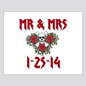 Mr. Mrs. Personalized Dates Posters