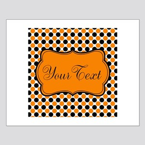 Personalizable Orange and Black Dots Posters