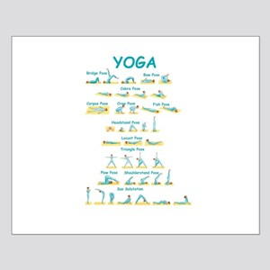 Yoga Poses Posters Cafepress