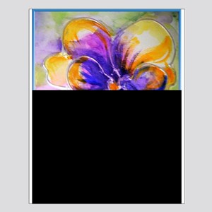 Colorful pansy, floral art Posters