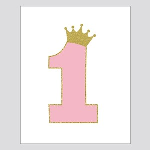 7120b74a 1st Gold and Pink princess birthday girl Posters