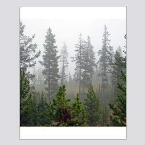 Misty forest Small Poster