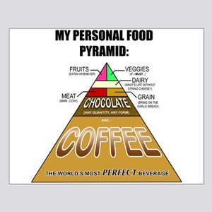 Coffee Is The Foundation Of My Food Pyramid Posters - CafePress