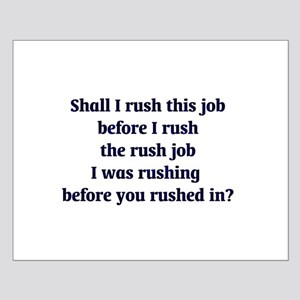 Rush Job Small Poster