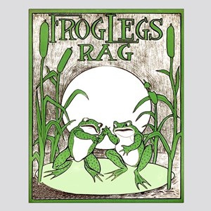 Frog Legs Rag Small Poster