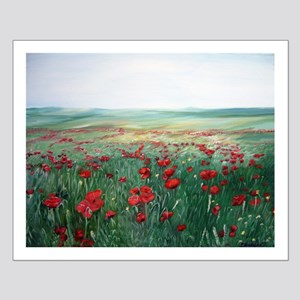 poppy poppies art Small Poster