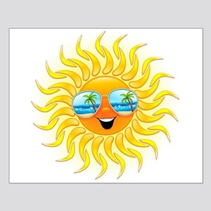 Summer Sun Cartoon with Sunglasses Posters