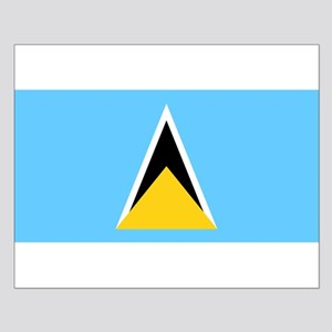 Saint Lucia Flag Small Poster